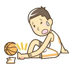 スポーツ外傷のイラスト