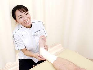 捻挫・関節痛の処置写真
