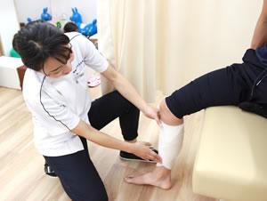スポーツ障害の施術写真